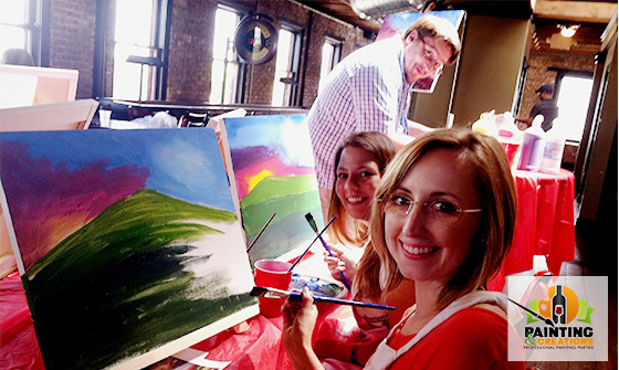 painting and wine party
