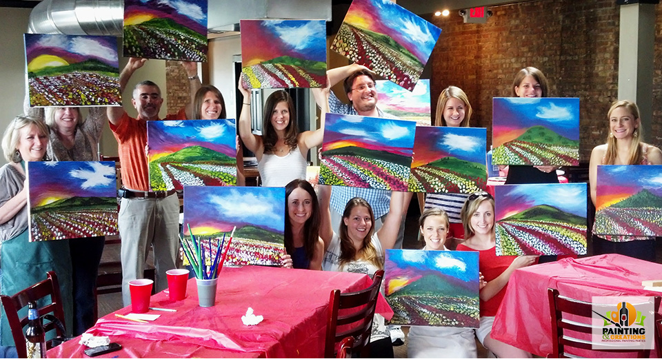 schedule wine and paint parties