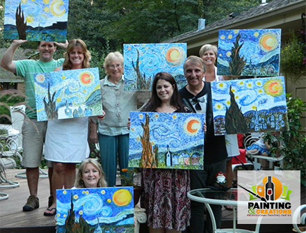 schedule paint and wine parties