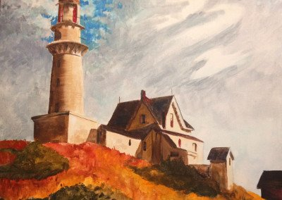Lighthouse at Two Light (Edward Hopper composition)  REF#DK003 ADVANCED