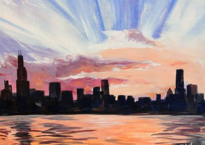 easy chicago painting