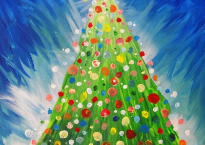 easy christmas painting