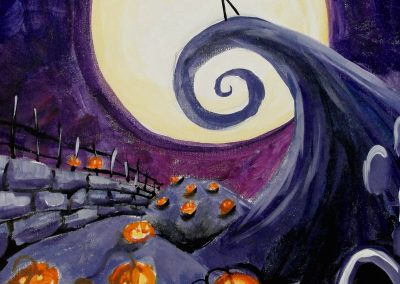 easy halloween painting