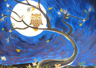 easy owl painting