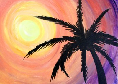 easy palm beach painting