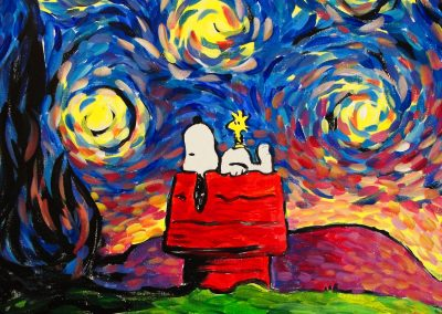 easy snoopy painting