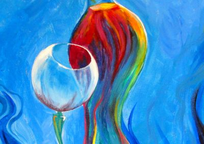 easy wine glass painting