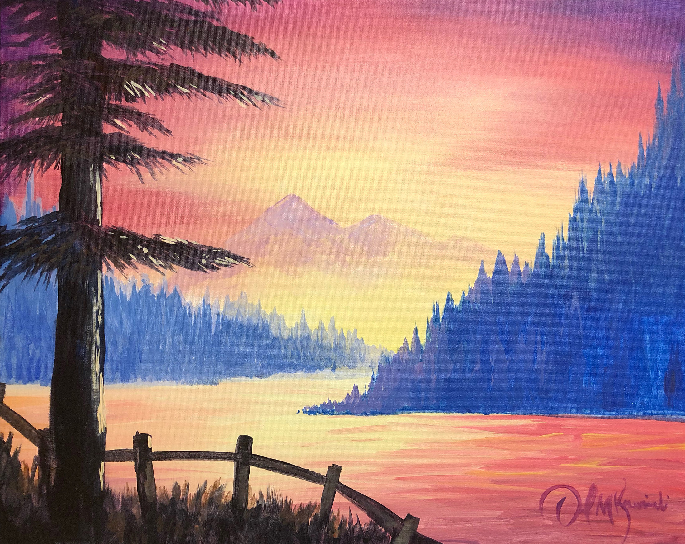 Easy Sunset Painting