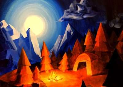 Campfire Nights Intermediate Painting