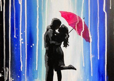 Couple Umbrella Anniversary Painting