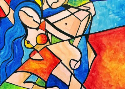 Easy Abstracted Nude Painting