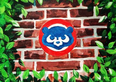 Easy Cubs Ivy Painting