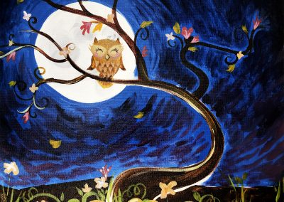 Easy Fall Owl Painting