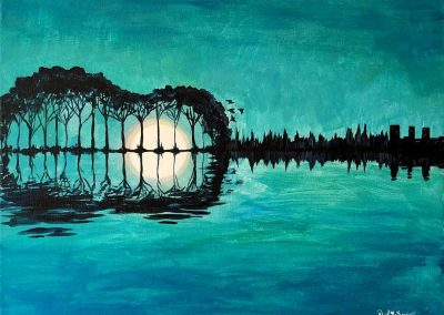 Easy Guitar Landscape Painting