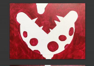 Easy Mario Piranha Plant Painting