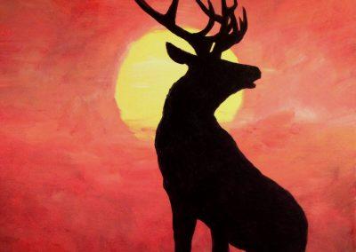 Easy Moose Painting