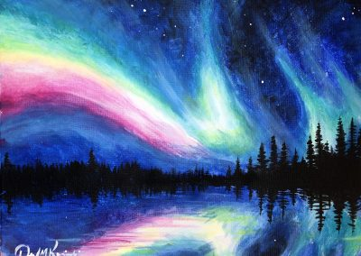 easy northern lights painting