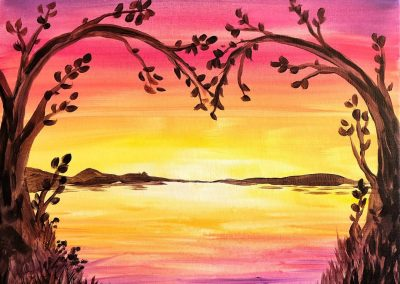 Easy Valentines Day Landscape Painting