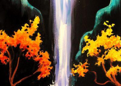 Easy Waterfall Painting