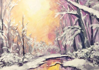 Intermediate Winter Landscape Painting