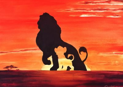Easy Lion King Painting