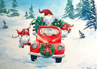 Santa's Gnomes Painting